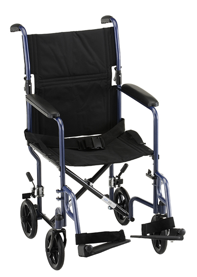 Nova 319 Steel Transport Wheelchair - Home Health Depot Medical Equipment & Supplies | Rental | Service & Repair | Delivery | Los Angeles, South Bay, Long Beach, Lomita, Carson, Torrance, San Pedro, Palos Verdes, Santa Monica, San Pedro